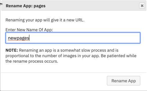 Rename, Duplicate (make copy) or Delete An App